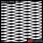 Cut Diamond Groove -2 Tone - Black on White