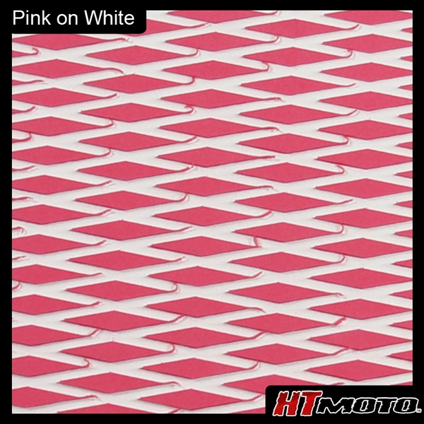 Cut Diamond Groove -2 Tone - Pink on White
