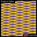 Cut Diamond Groove -2 Tone - Purple on Yellow
