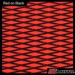 Cut Diamond Groove -2 Tone - Red on Black