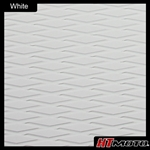 Cut Diamond Groove - White